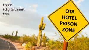Hotels locked up in the digital desert: fully booked, but less profit.